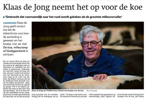 Interview over 'De koe, milieuramp of Godsgeschenk?'