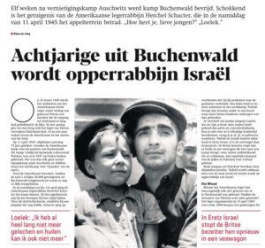 Achtjarig jongetje uit Buchenwald wordt opperrabbijn Israel