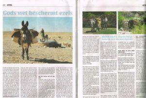 Artikel in krant Uitdaging