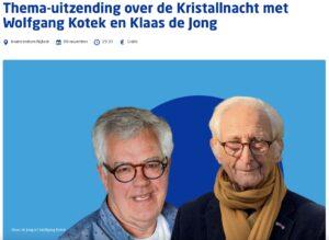 CvI Thema-uitzending over Kristallnacht
