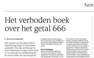 Artikel RD over verboden boek 666